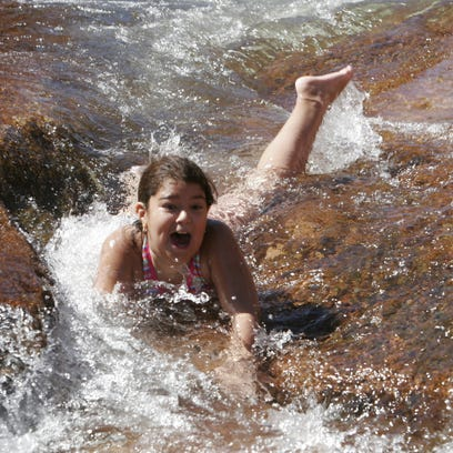 Slide Rock State Park in the Sedona-Village of Oak
