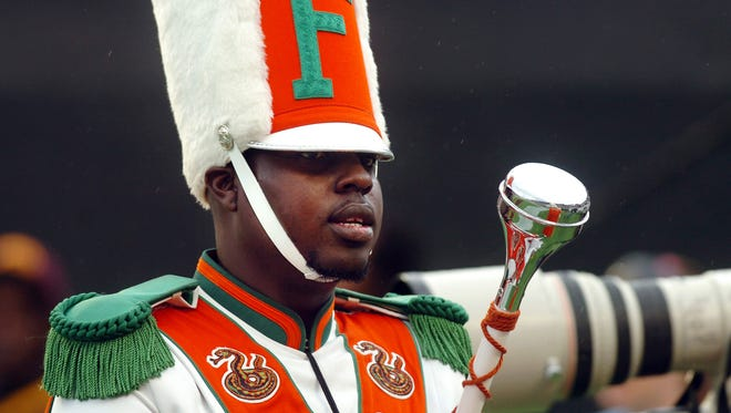 AP  Robert Champion, a drum major in Florida A&M University?s Marching 100 band, was killed during a hazing incident in November 2011. AP  Robert Champion, a drum major in Florida A&M University's Marching 100 band, performs during halftime of a football game in Orlando. FILE - In this Saturday, Nov. 19, 2011 file photo, Robert Champion, a drum major in Florida A&M University's Marching 100 band, performs during halftime of a football game in Orlando, Fla. On Monday, April 20, 2015, the final three former band members charged with manslaughter and felony hazing in Florida A&M University drum major Robert Champion's beating death following a football game will go on trial for the November 2011 attack. (AP Photo/The Tampa Tribune, Joseph Brown III, File) MANDATORY CREDIT, MAGS OUT,  ST. PETE, LAKELAND, BRADENTON OUT