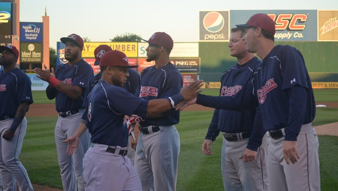 The Somerset Patriots playoff game with the Maryland Blue Crabs has been rained out Friday night.