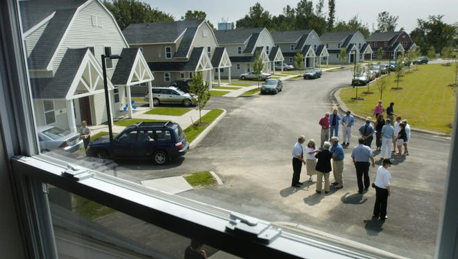 The Shelburne Family Housing neighborhood, pictured in 2004, included new affordable housing units.