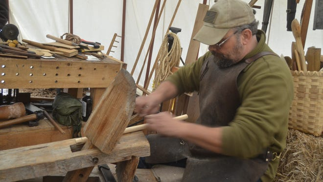 Bill Maddox is demonstrating woodworking and iron forging at Bledsoe Creek State Park through Jan. 21.