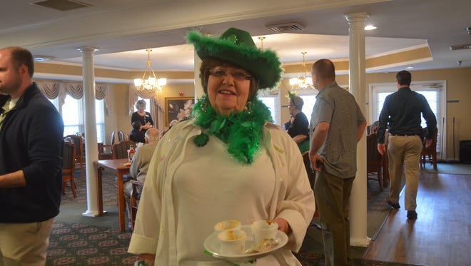 Judy Barnes won the costume contest at Morningside of Gallatin's 2018 St. Patrick's Day Chili Cookoff.