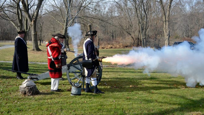 The event kicks off with a bang on Nov. 29, when members of Lamb's Artillery stage a Revolutionary War-era encampment, complete with cannon firing and musket drilling.