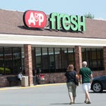 The A&P Fresh logo on the Halstead Avenue store in Harrison.