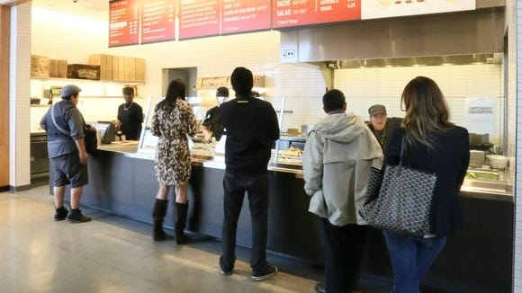 A line at a Chipotle