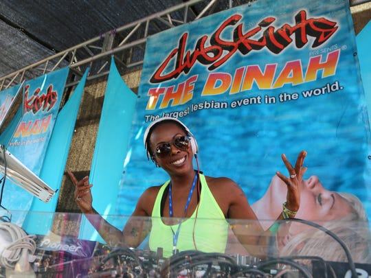 DJ Asha spins during The Dinah.