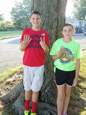 Clay (left) and Carly Douglas of Posey County, Indiana.