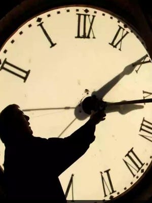 Daylight Saving Time begins at 2 a.m. on Sunday.