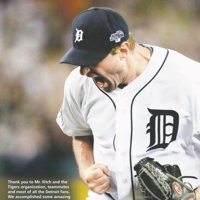Max Scherzer's full-page ad in the Detroit Free Press'