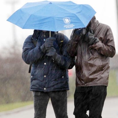 A flood watch, freezing rain advisory and hazardous