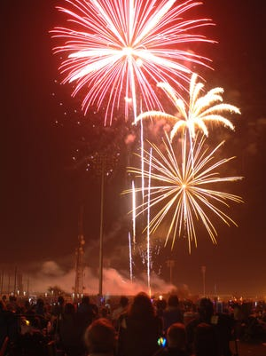 Fireworks light the Fourth of July celebration at Peoria Sports Complex.