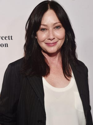 Actress Shannen Doherty at the Farrah Fawcett Foundation's Tex-Mex Fiesta in 2019. Doherty said last week that she's been diagnosed with stage IV breast cancer, three years after entering remission.
