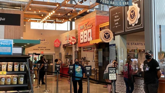 H-E-B's Main Streat food hall opened in late August in the Muller location, and it's where the company is testing out its food hall concept.