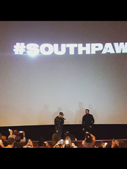 "Eminem and Jake Gyllenhaal attended an advance screening of the film ""Southpaw"" at the AMC Livonia 20 on Sunday,  July 19, 2015."