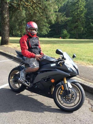 A man was robbed at gunpoint Monday after posting his motorcycle for sale online.