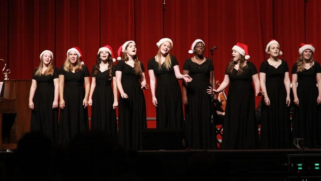"""The Presentation Academy Prezettes perform holiday music in """"Songs of the Season"""" airing on WKYI-TV and on WNDA-TV/Indiana 9."""