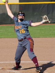 Olivia Iafrate heads a list of three sophomore pitchers this season for the Mercy softball team.