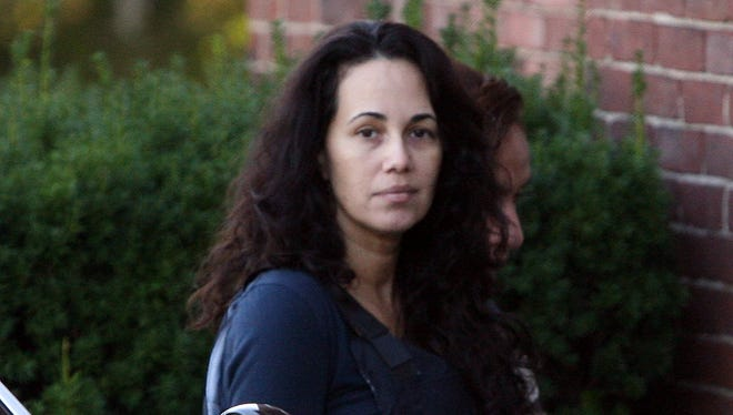 """Manuela Maria Morgado, the Mamaroneck mom convicted of killing her 4-year-old son, Jason """"Jake"""" Reish, arrives at Mamaroneck Village Court in 2012."""