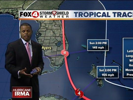 FOX-4 chief meteorologist Derek Beasley evacuated his