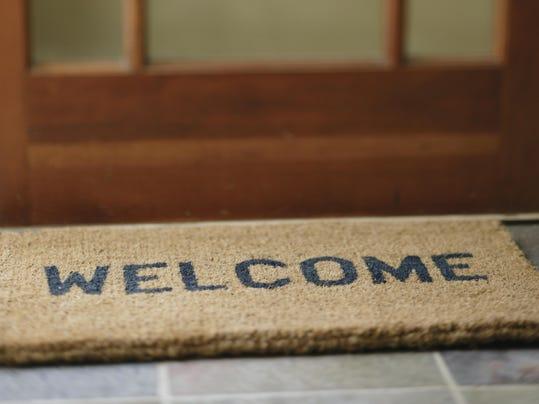 Lead art - welcome mat