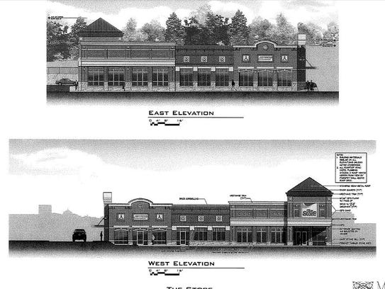 An architectural rendering of the proposed development
