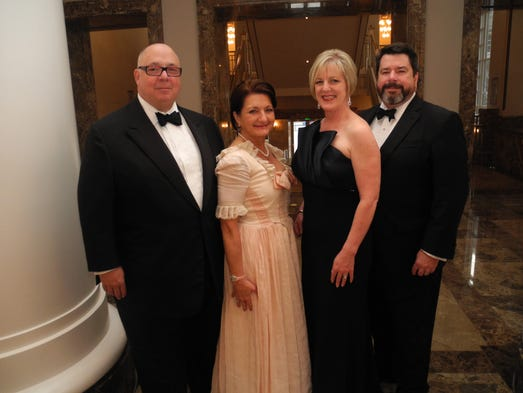 Keith and Hermitage Gala co-chair Deby Pitts, left, and Hermitage Gala co-chair Carol and Frank Daniels, III at the 2014 Hermitage Gala, a fundraiser for The Hermitage, home of President Andrew Jackson, held at The Schermerhorn Symphony Center.
