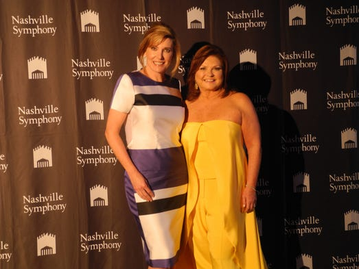 2014 Symphony Spring Fashion Show co-chairs Dara Russell, left, and Vicki Horne at the 2014 Symphony Spring Fashion Show, a fundraiser for the Nashville Symphony Orchestra League's music education programs and the Thor Johnson Scholarship.