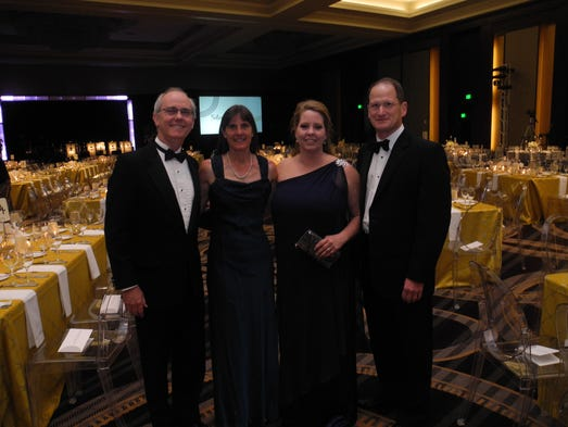 2014 Seton Celebration co-chairs Newton and Burkley Allen, left, and Mary Jo and Steve Shankle at the 2014 Seton Celebration, a fundraiser for the Saint Thomas Health Foundation, held at The Omni Nashville Hotel.