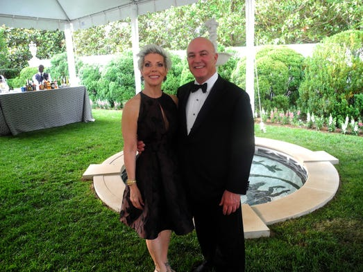 Julie and George Stadler hosted The Swan Ball 2014 Patron's Party, held at their home.