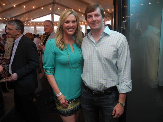 Wine & Swine co-chairs Elizabeth Bradbury and William Liles at the 6th annual Wine & Swine, a fundraiser for the Cystic Fibrosis Foundation's Middle Tennessee Chapter, held at The Bridge Building.