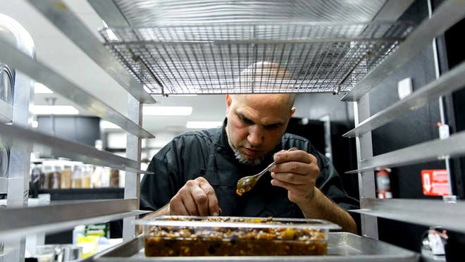 Chef Michael Psilakis has created Teatro, an ultra-modern Italian restaurant at the new Southwest Florida Performing Arts Center in Bonita Springs. (Luminaire Foto)