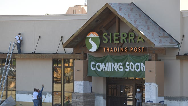 The exterior of the new Sierra Trading Post store is seen Wednesday Sept. 24, 2014.
