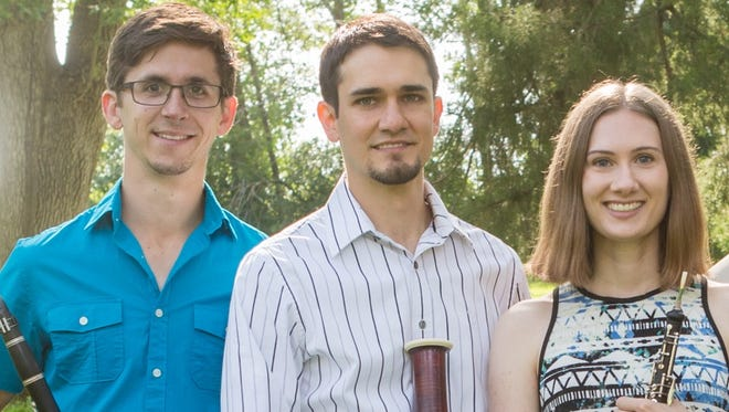 The Electric City Chamber Players includes, from left, Chris Mothersole, Dorian Antipa and Lauren Blackerby.