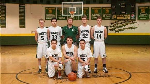 Hunter Stewart is back from last season's Blue Ridge boys basketball team.