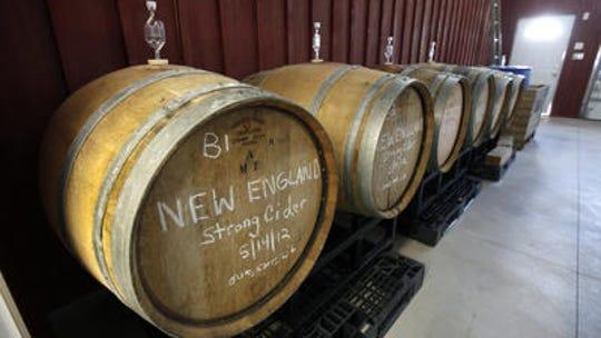 Barrel-aged hard cider.