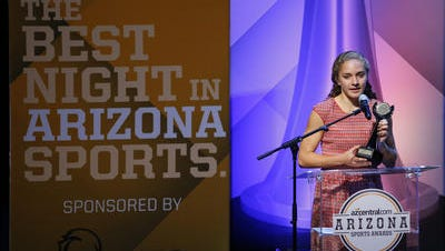 Allie Schadler, honored by azcentral sports in the Arizona Sports Awards for top female cross country runner in the state, wins the Arizona Gatorade Girls Track and Field Athlete of the Year honor