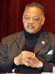 The Rev. Jesse Jackson meets with the Enquirer editorial board.