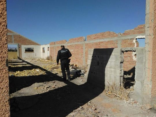 Juárez police search vacant properties for 7-year-old James Camacho.