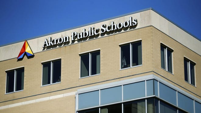 Akron Public Schools building, Monday, Oct. 28, 2019, in Akron, Ohio.
