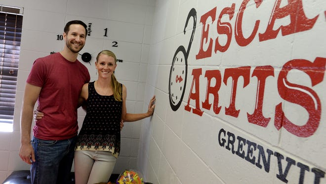 Will and Kim Rutherford own Escape Artist Greenville, a locally run escape room. Escape rooms are a growing form of entertainment.