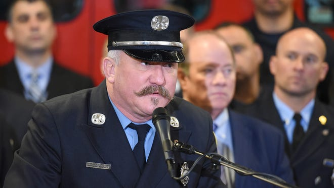 Detroit Fire Fighter Association President Mike Nevin