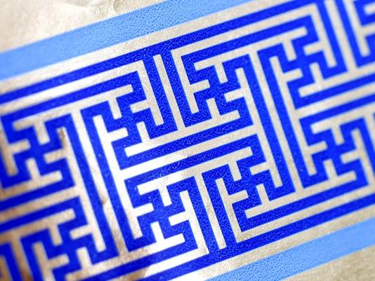 Hanukkah-Swastika Wrapping