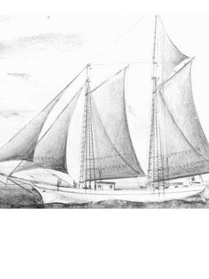 The Lizzie Throop, a two masted, 86-foot schooner was built in year 1849, at Mill Point, Michigan.