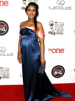Kerry Washington attends the 45th NAACP Image Awards held at the Pasadena Civic Auditorium on Feb. 22, 2014.