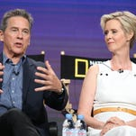 Tim Matheson and Cynthia Nixon, who play Ronald and Nancy Reagan in 'Killing Reagan,' Beverly Hills, Calif., July 30, 2016.