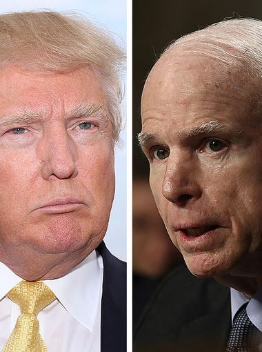 Donald Trump and John McCain have been sparring publicly from the beginning of Trump's campaign for presidency, which began in June 2015. Here are the highlights.