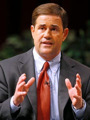As governor, Doug Ducey says he would recruit companies from California and Illinois, eliminate unnecessary regulations and eventually do away with the state's personal and corporate income taxes by reforming the tax code.