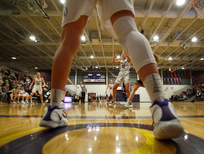 Indianola sophomore Alley May looks to take an inbounds