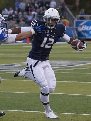 Nevada's Hasaan Henderson, shown during a game in 2013, has missed the last week of practice with nagging injuries but he should be good to go for the season opener.