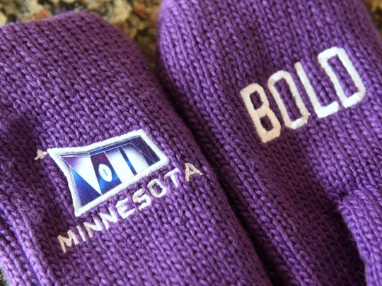 Special Bold North mittens are just one item that will be worn by Minnesota volunteers during Super Bowl festivities in Minneapolis.